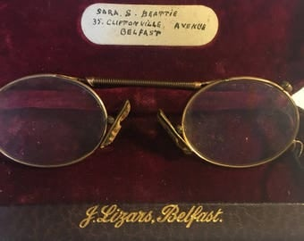 Antique original folding pince nez specs