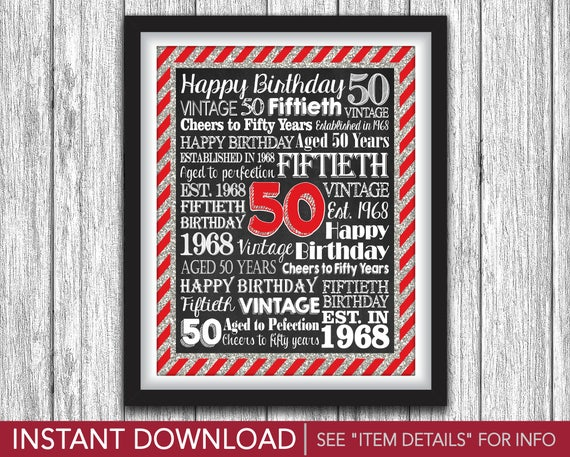 image about 50th Birthday Signs Printable named Armoured Cars and trucks Latin The usa This kind of 50th Birthday Celebration