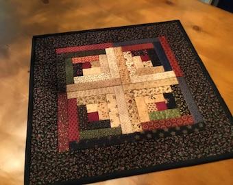 Log Cabin Table Topper / Country Decor / Primitive Decor /Handmade / Item #2130