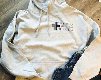 Grey Sloan Memorial Hospital custom hoodie. JAmerica soft. Greys Anatomy. Grey's Anatomy. Meredith gray. Gift.