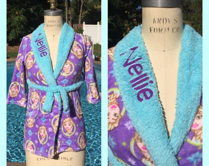 Frozen Elsa Snuggle Fleece Bath Robe - Personalized Monogrammed Girls 4-10