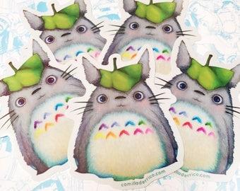 """Totoro """"Hello My Neighbor"""" Vinyl Sticker"""