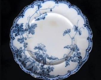 Ridgeway Flow Blue Plate in the Lonsdale pattern
