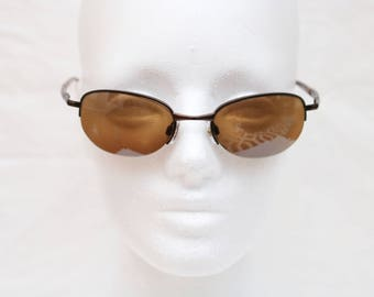 "90's Vintage ""FOSTER GRANT"" Brown Rectangular Sunglasses"