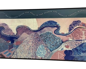 David Hockney Mulholland Drive The Road to the Studio LACMA Framed Print 17 x 38