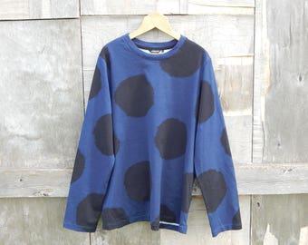 Marimekko T- shirt Black Deep Blue SLIIVI long sleeve T- shirt 100% cotton
