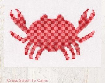 Cross Stitch to Calm: Crab Cross Stitch Chart Download (804220)