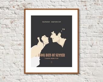 500 DAYS OF SUMMER - Minimalist Posters, Movie Posters, Zooey Deschanel, Joseph Gordon-Levitt, Alternative Poster, Movie Quote Poster