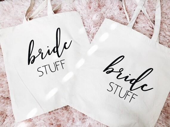 Custom Canvas Tote | Bride Tote Bag | Bridesmaid Tote Bag