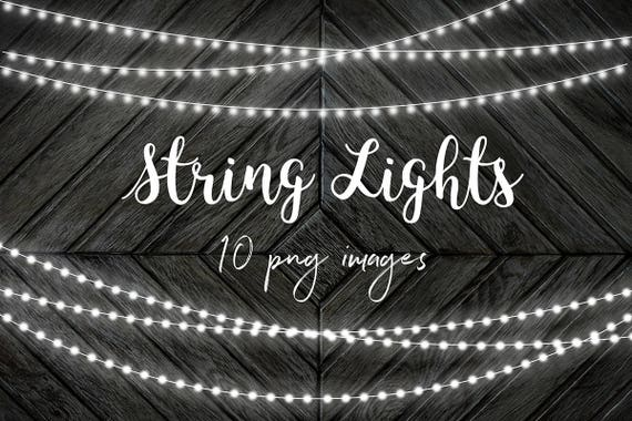 White String Lights Clip Art Fairy Overlays Party