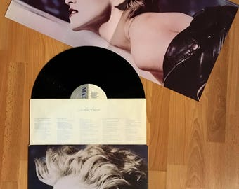 Madonna - True Blue (1986) Vinyl LP + POSTER  Papa Don't Preach, Live to Tell