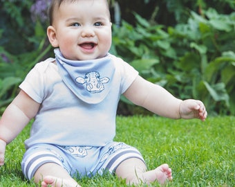 SALE! READY to SHIP cow baby shorts, toddler shorts, cows, organic, shorts, baby clothes, toddler clothes, baby gift