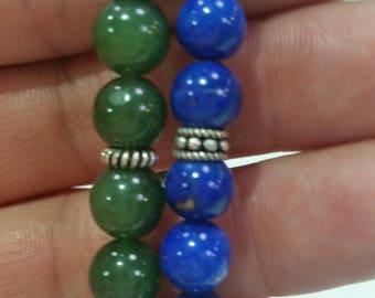 Jade and Lapis Lazuli Necklace Set