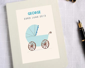 Personalised New Baby Boy Notebook (2 designs available)