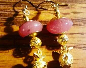 Handmade earrings by Jukeboxx Jewelry and Crochet