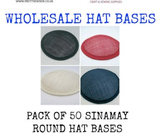 Hat bases millinery sinamay hat base Wholesale hat base sinamay round hatbase 13cm (5 inch) pack of 50 hat bases