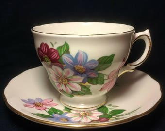 Royal Vale Teacup with Matching Saucer