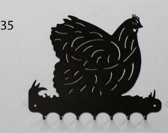 Hangs 26 cm pattern metal keys: Orpington hen