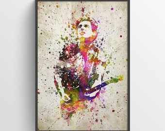 Bruce Springsteen Print, Bruce Springsteen Poster, Bruce Springsteen Art, Home Decor, Gift Idea