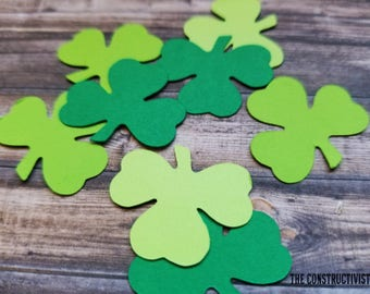 100 1-Inch 》SHAMROCK《 Confetti/Table Scatter/ St. Patrick's Day/Irish/3 Leaf Clover/Luck/Photoshoot/Party Supplies/Decor