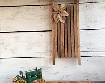 Wood Sled, Wooden Christmas Sled, Primitive Wood Sled, Country Wood Sled, Wood Christmas Decor, Wooden Christmas Decorations, Wood Christmas