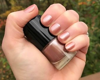ROMANA - Soft Sandy Pink Color Stardust Doctor Who Inspired Nail Polish - Bliss Scented - 5-Free & Cruelty Free