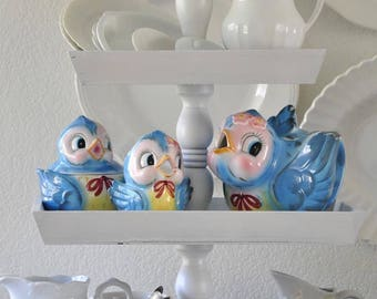 Vintage Lefton Blue Birds