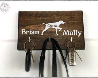 Key holder, pet key holder, dog key leash holder, key holder for wall, personalized key holder, wooden,, dog key holder, dog key hook