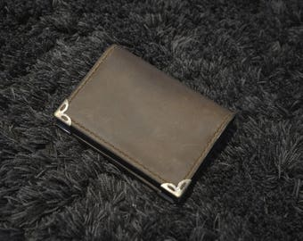 Distressed Leather Wallet, Card Holder, Personalized Leather Wallets, Handmade Wallet, Handcrafted Wallet, Credit Card Wallet