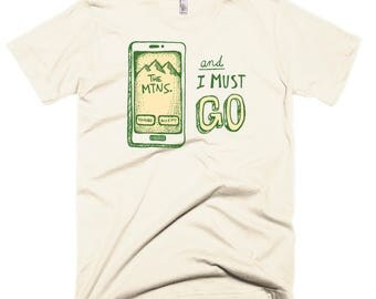 The Mountains Are Calling T-Shirt, Creme
