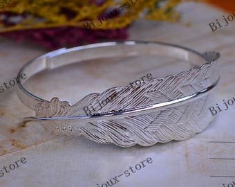 x 1 Bracelet with leaf Silver (SJ058)
