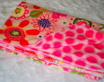 Child blanket minky double sided