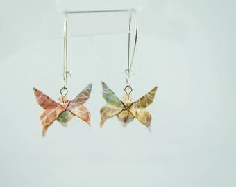 Origami butterflies washi earrings