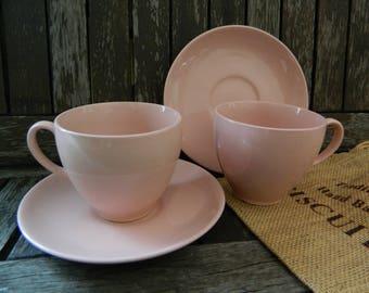 Rose Cloud Johnson Bros Pink Tea Cup and Saucer x 2