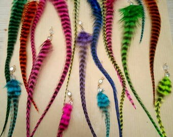 50 feathers hair