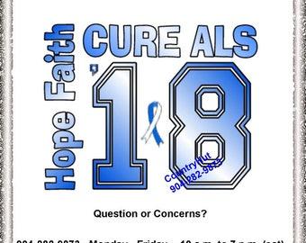 T-shirt - ALS Awareness - Lou Gehrig's disease - Hope Faith CURE ALS - May awareness month '18