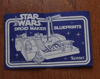 Vintage 1977 Original Star Wars Droid Maker Blueprints Kenner - Droid Factory
