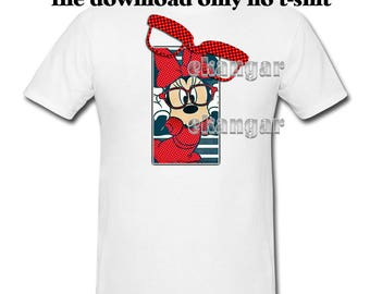 """Iron On Transfer Printable """" Minnies Glasses  """"  Diy Disney  ( digital download  72 dpi)  add dates with paint pin"""