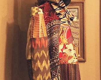 Multicolor Hooded Coat