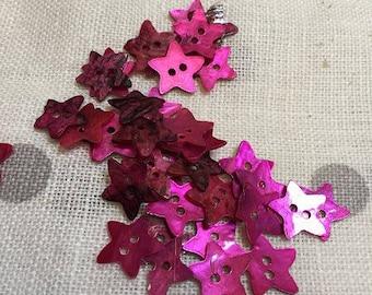 25 boutons nacre rose pour la couture ou pour création bijoux