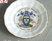 Vintage Royal Crown Derby Carsington Water Porcelain Souvenir Inauguration Dish by Her Majesty the Queen 22nd May 1992