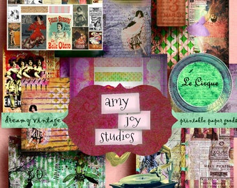 Cabaret Broadway  Junk Journal Digital Kit  Vintage Dance  Burlesque Art  Printable Journal Pages  Digital Journal Kits  Handmade Books