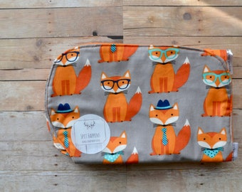 Burp Cloth - Fox Burp Cloth - Foxy Burp Cloth -Gender Neutral Burp Cloth - Burp Cloth-  Baby Burp Cloth - Baby Boy Burp Cloth