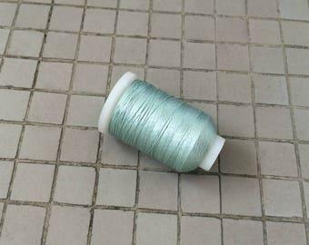Vintage Gudebrod Bros Silk Thread Spool,Pale Green, Size E, 265 Yards