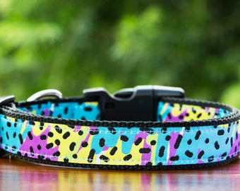 Tropical Confetti Dog Collar  / Dog Collars Australia /  XS-XL