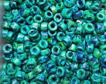6x4mm Mykonos Greek Ceramic Aegean Mix Mini Tube Beads - Select 20 or 50 Beads
