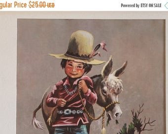 "Christmas in July Little Joe Sun-Up 11"" by 15"" Lithograph - Monteague Flagg, Native American, Southwestern Art, Artwork"