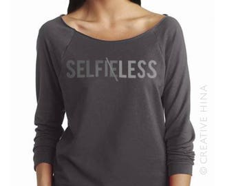 SELFLESS TEE: selfie top / self photo / vain / millennial / fab /humble t-shirt