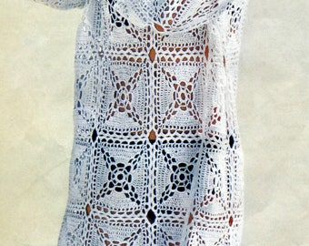 Crochet tunic PATTERN, pdf TUTORIAL Beach Cover-Up Tunic Boho crochet tunic pattern