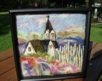 Handmade Needle Felted Wool Painting